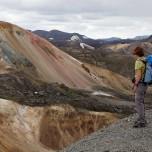 Blick auf den Brennenden Berg Brennisteinsalda