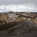 Panorama von Landmannalaugar vom Vulkan Bláhnúkur aus