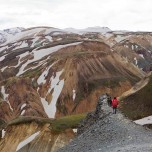 Gratwanderung auf dem Vulkan Bláhnúkur