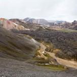 Panorama Landmannalaugar mit Brennendem Berg