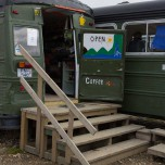 Café-Bus auf dem Campingplatz von Landmannalaugar