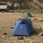 Zelt in Landmannalaugar