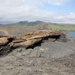 Felsplatte aus Lavagestein an der Südküste von Island