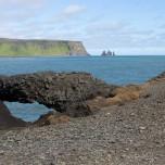 Torbogen am Strand von Dyrholaey