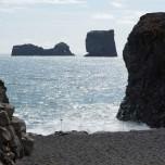 Am Strand im Süden von Island
