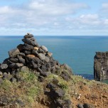 Blick aufs Meer vor Island