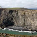 Steilufer der Halbinsel Dyrhólaey