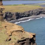 Steilufer im süden von Island