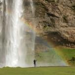 Regenbogen am Wasserfall Seljalandsfoss