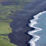 Der berühmte schwarze Strand von Vik i Myrdal