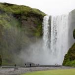 Wasserfall Skógafoss - Skogafoss auf Island