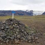 Mýrdalsjökull - Myrdalsjökull in Sicht