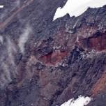 Dampfende Lava des Eyjafjallajökull I