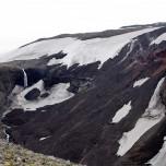 Lava- und Wasserfall am Eyjafjallajökull