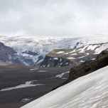 Aufstieg im Schnee zum Eyjafjallajökull