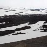 Dampfende Lava und Schnee am Kegel des Eyjafjallajökull I