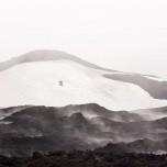 Dampf und Nebel am Vulkan Eyjafjallajökull auf Island