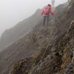 Klettertour im Nebel, am Vulkan Eyjafjallajökull
