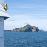 Hauptinsel der Westmännerinseln in Sicht