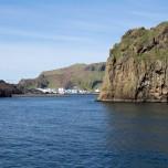 Hafeneinfahrt in Heimaey auf den Westmännerinseln