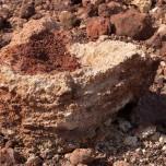 Lavagebilde, eigenartige Form aus Lava III