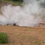 Schlammtopf im Geothermalgebiet Hveragerdi
