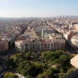 Blick auf Barcelona von der Sagrada Familia aus