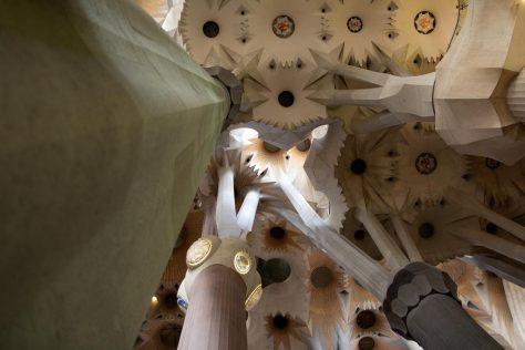 Sagrada Família in Barcelona, Säulen wie Bäume