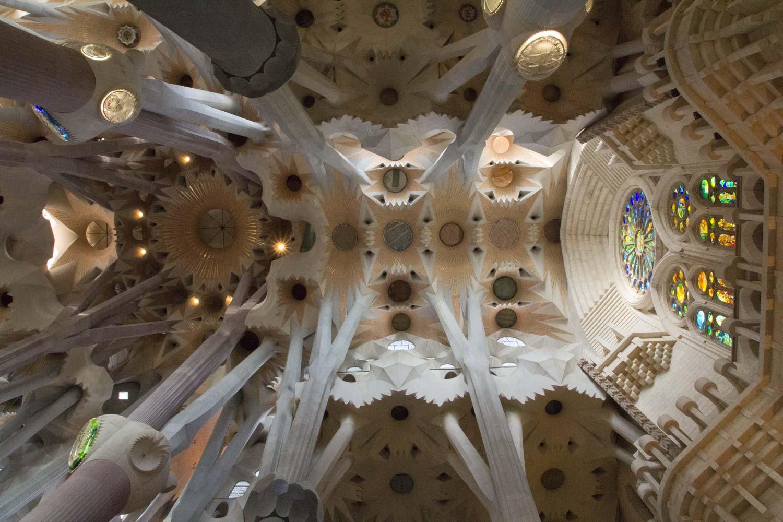Sagrada Família, Decke des Hauptschiffs