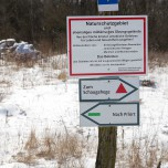 Warnung in der Döberitzer Heide