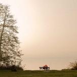 Einsamer Angler am Schwielowsee