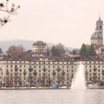 Fontäne im Zürichsee
