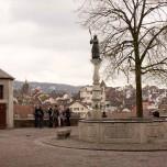 Lindenhof mit Brunnen