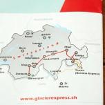Übersichtskarte für den Glacier Express