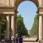 Blick nach Belvedere