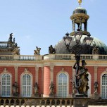 Teilansicht des Neues Palais von Sanssouci
