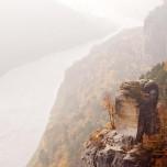 Blick zur Elbblick von der Bastei aus I