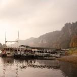 Elbschiffahrt bei Rathen