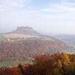 Lilienstein & Elbe vom Königstein aus I
