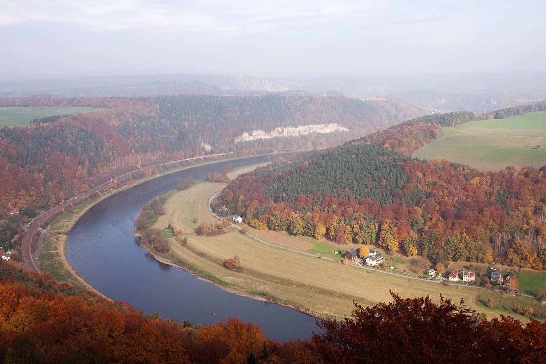 Elbblick von der Festung Königstein