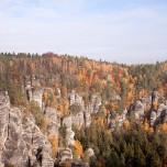 Elbsandsteingebirge von der Bastei aus