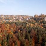 Blick nach Hohnstein