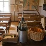 Blick vom Katheder im Schulmuseum Reckahn