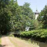 Blick vom Park zur Kirche Reckahn