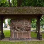 Wisentdenkmal in Eichhorst