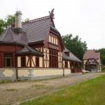 Kaiserbahnhof in Joachimsthal vom Bahnsteig aus