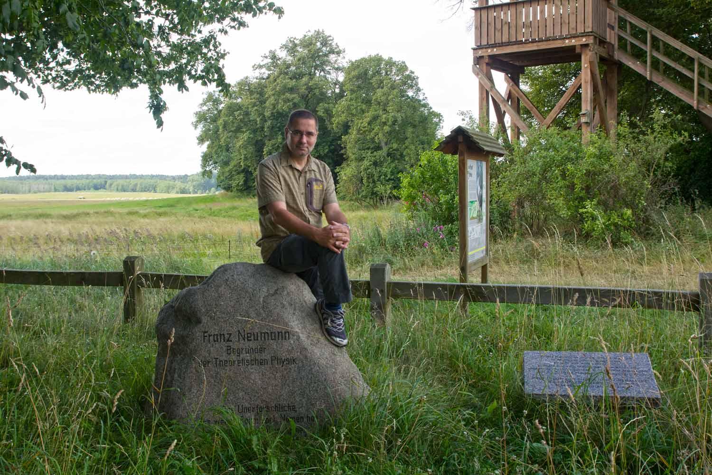 Auf dem Franz-Neumann-Gedenkstein