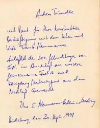 Eine mich sehr berührende persönliche Widmung des Ur-Ur-Enkels in der Neumann-Biografie von Neumanns Tochter Luise