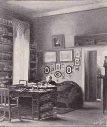 Franz Neumann in seiner Studierstube in Königsberg (nach einem Ölgemälde seiner Tochter)