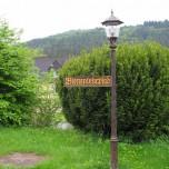 Hinweis im Klostergarten